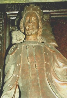 Rudolf IV, recumbent figure from the tomb of Rudolf IV and Catherine of Bohemia, c. 1360