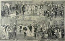 Vinzenz Katzler: Court ball in Vienna, 19th century, xylograph