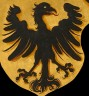 Example of a medieval imperial eagle: detail from an imaginary portrait of Charlemagne (after Albrecht Dürer)…
