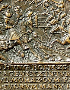 Medal commemorating Louis II and Maria, as well as the Battle of Mohács