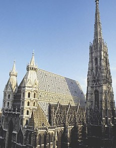 The south side of St Stephen's Cathedral