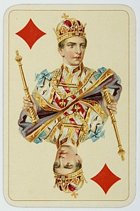 King of Diamonds from the imperial jubilee playing cards