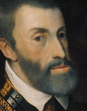 Tiziano Vecellio (genannt Tizian): Kaiser Karl V. im Harnisch, Mitte 16 - tiziano_vecellio_genannt_tizian_kaiser_karl_v._im_harnisch_mitte_16._jahrhundert_teaser
