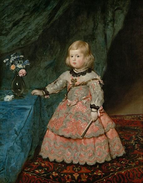 Diego Rodríguez de Silva y Velázquez: Infanta Margarita Teresa (1651-1673) in pink dress to 1653/16 ...