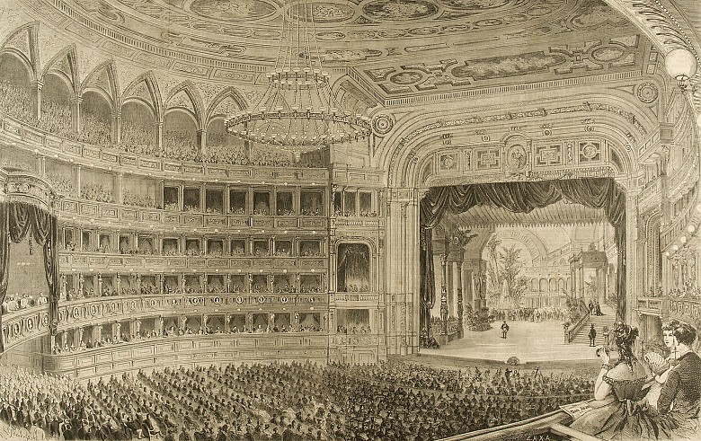 Opening performance at the new Court Opera in Vienna with ...