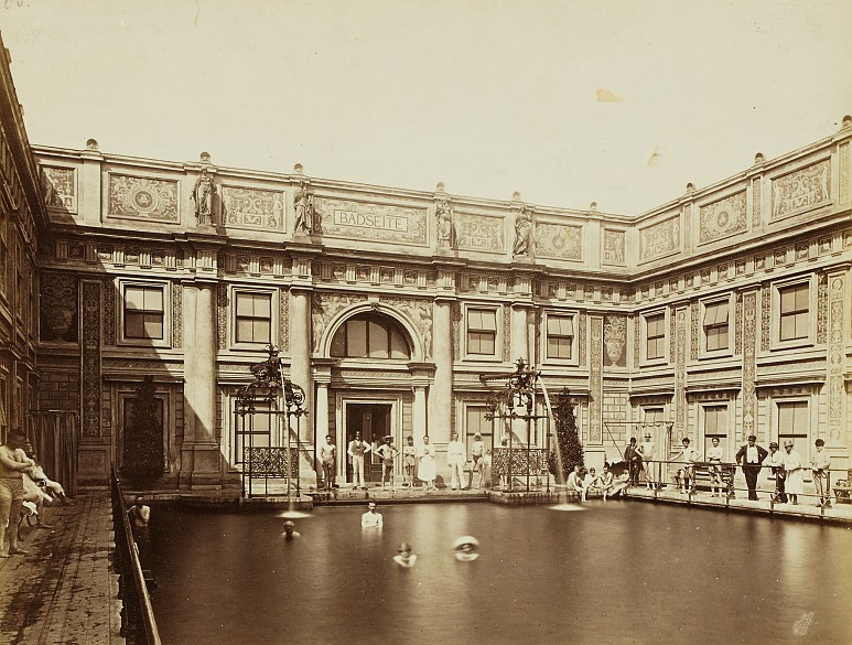 interior view of the roman baths in vienna photograph c. Black Bedroom Furniture Sets. Home Design Ideas
