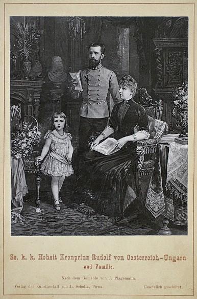 kronprinz rudolf mit seiner familie originalfotografie