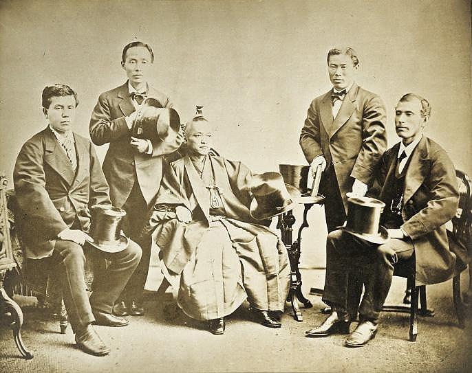 Mitglieder der iwakura mission fotografie 19 for Bauernmobel 19 jahrhundert