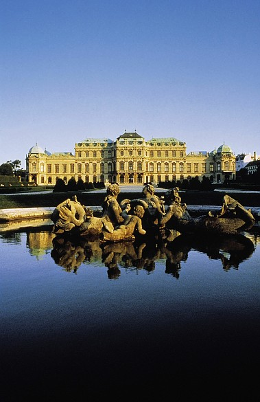 Upper Belvedere, built to designs by Lucas von Hildebrandt 1721–1722, photograph
