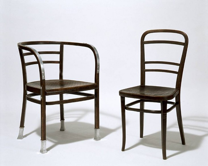 thonet chairs designed by otto wagner for the post office savings bank in vienna 1906 die. Black Bedroom Furniture Sets. Home Design Ideas
