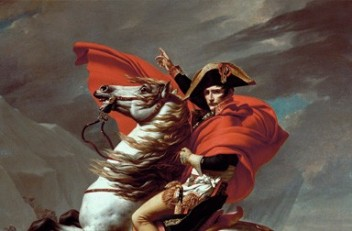 Jacques-Louis David: Napoleon Crossing the St Bernhard Pass, 1802/1803
