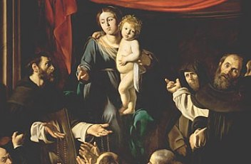 Michelangelo Merisi (called Caravaggio): Madonna of the Rosary, painting, 1606/1607